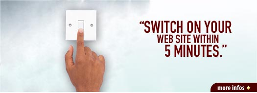 Switch on your web site within 5 minutes